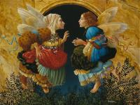 Two Angels Discussing Botticelli