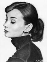 Audrey Hepburn- Left Profile