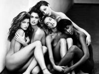 Stephanie, Cindy, Christy, Tatjana, Naomi - Hollywood 1989