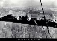 Men Sleeping on Beam - Radio City, 1932